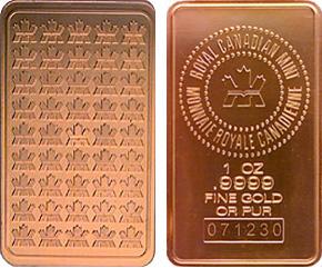 Gold Bars 1 Ounce