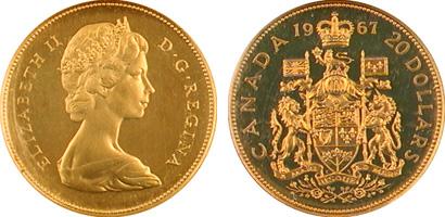 Canada 1967 20 Gold