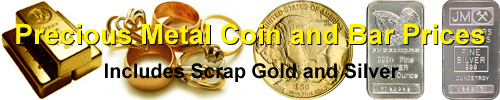 Precious Metal Coin and Bar Prices